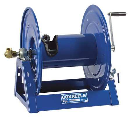Hose Reel, Hand Crank, 1/2 In ID x 100 Ft