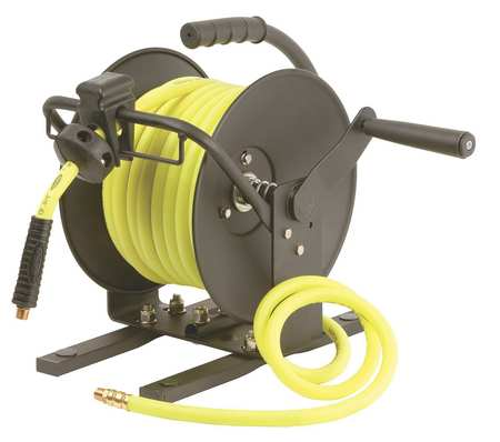 Hose Reel, Hand Crank, 3/8 In x 50 Ft