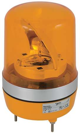 Warning Light, Rotating Mirror LED, Orange