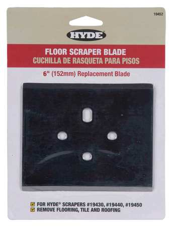 Scraper Blade, 6 In, For 5FZH2-4
