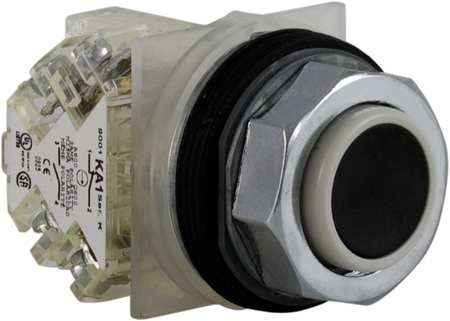 Non-Illuminated Push Button, 30mm, Black