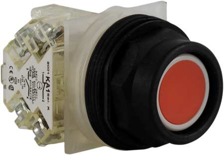 Non-Illuminated Push Button, Plastic, Red