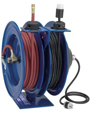 Air Hose/electical Cord Combination Reels