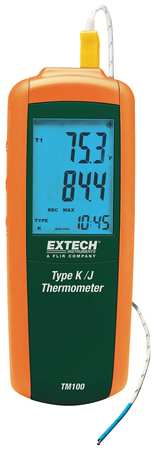 Thermocouple Thermometer, 1 In, Type J,  K