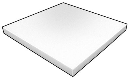 Foam Sheet, Crosslink, Poly, 1/2x12x12, Wht