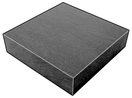 Foam Sheet, 300135Poly, Charcoal, 3/4x24x24
