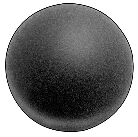 Foam Ball, Polyether, Charcoal, 3-1/2 In D