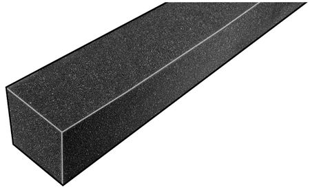 Foam Strip, 3010 Poly, 1 1/4x1 1/4x42 In