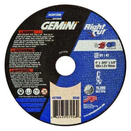 """CutOff Whl, Gemini 4-1/2""""x.045""""x7/8"""""""