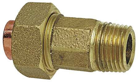 "1"" C x MNPT Lead Free Cast DZR Brass Union"
