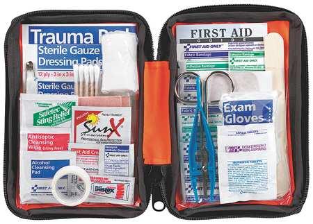 First Aid Kit, Bulk, Orange, 107Pcs, 1 Ppl