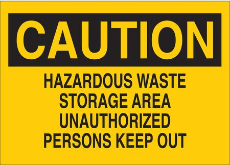 Caution Sign, 10 x 14In, BK/YEL, Fiberglass
