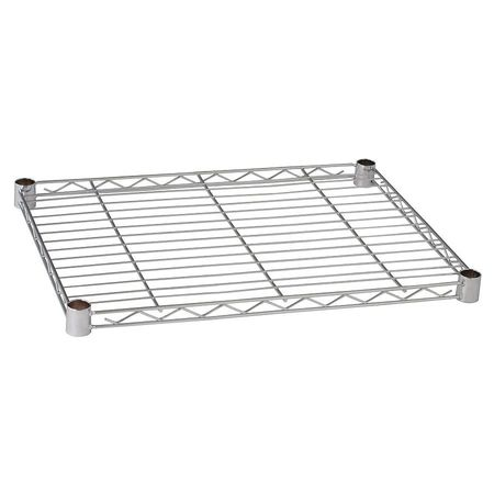 Wire Shelf, 24 x 18 in., Chrome