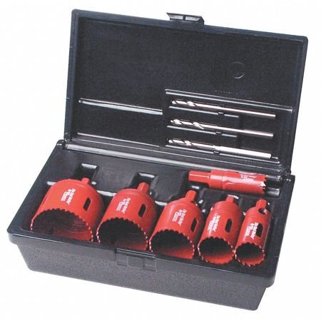 Electricians Hole Saw Kit, 9 pcs.