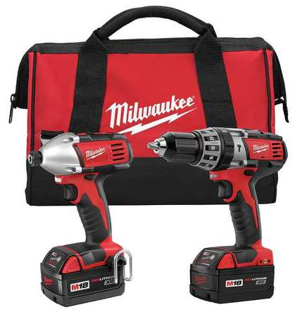M18 Cordless Combination Kit,  18V,  3.0A/hr.