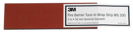 Fire Barrier Wrap Strip, 8-1/4 In. L, PK24