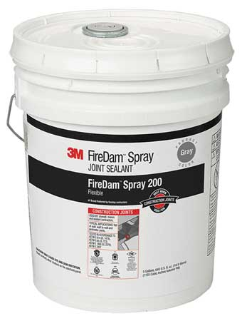Fire Barrier Sealant, 5 gal., Gray