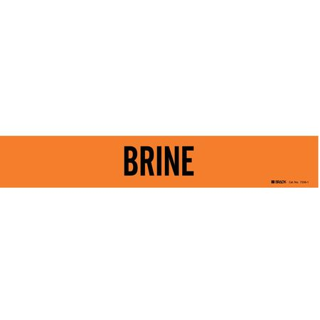 Pipe Marker, Brine, Orng, 2-1/2 to 7-7/8 In