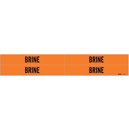 Pipe Marker, Brine, Orange, 3/4 to 2-3/8 In