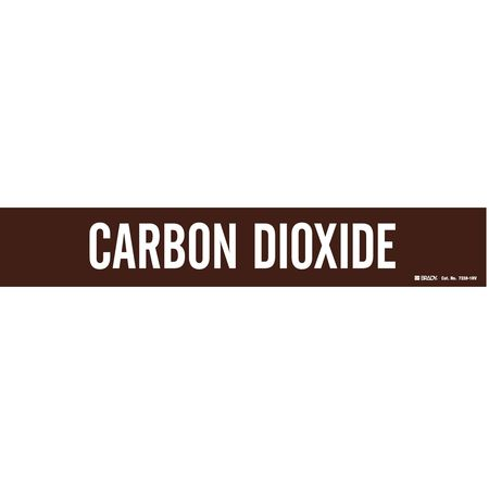 Pipe Markr, Carbon Dioxide, Br, 8 In orGrtr