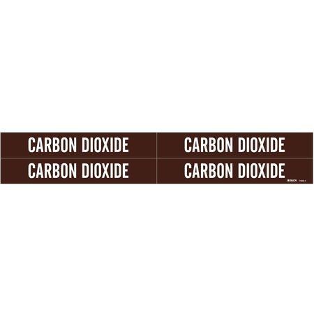 Pipe MarkeCarbon Dioxide, B3/4to2-3/8 In