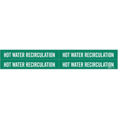 Pipe Marker, Hot Water Recirculation, Gn