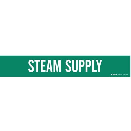 Pipe Marker, Steam Supply, Gn, 8 In or Lrgr
