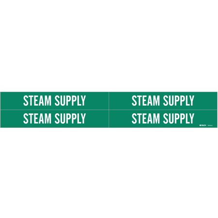 Pipe Markr, Steam Supply, Gn, 3/4to2-3/8 In
