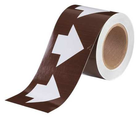 Arrow Tape, White/Brown, 4 In. W