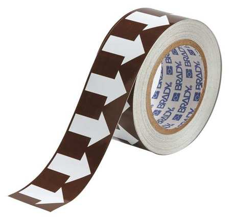Arrow Tape, White/Brown, 2 In. W