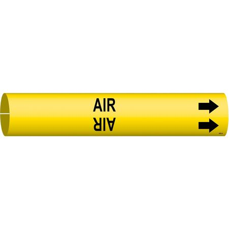 Pipe Marker, Air, Yellow, 3/4 to 1-3/8 In
