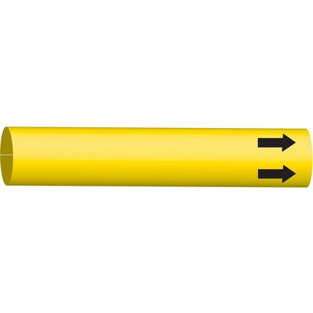 Pipe Marker, (Blank), Yellow, 8 to 9-7/8 In