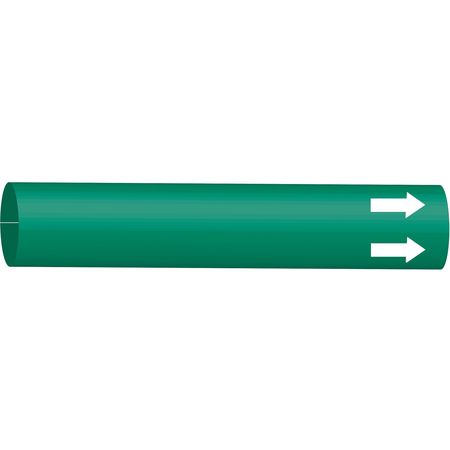 Pipe Marker, (Blank), Green, 6 to 9-7/8 In