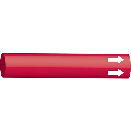 Pipe Marker, (Blank), Red, 6 to 9-7/8 In