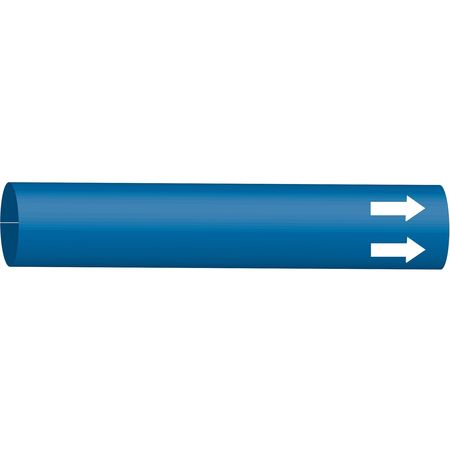 Pipe Marker, (Blank), Blue, 6 to 9-7/8 In
