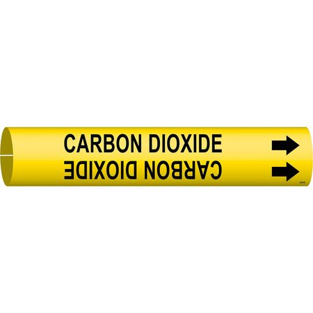 Pipe Mrkr, Carbon Dioxide, 1-1/2to2-3/8 In