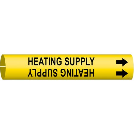 Pipe Mrkr, Heating Supply, 1-1/2to2-3/8 In