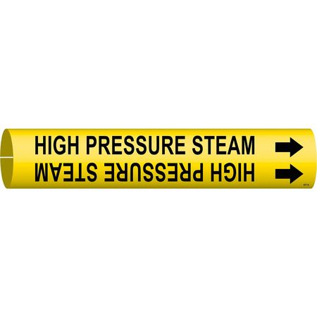 Pipe Marker, High Pressure Steam, Yellow