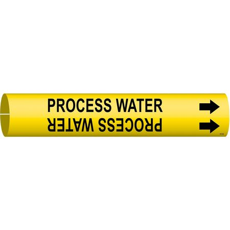 Pipe Markr, Process Water, 1-1/2to2-3/8 In