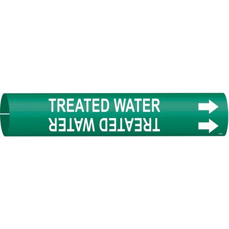 Pipe Mrkr, Treated Water, 1-1/2to2-3/8 In