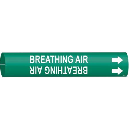 Pipe Mrkr, Breathing Air, 1-1/2to2-3/8 In