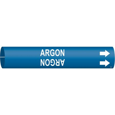 Pipe Marker, Argon, Blue, 1-1/2 to 2-3/8 In