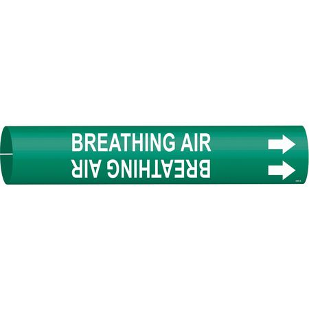 Pipe Marker, Breathing Air, 3/4to1-3/8 In
