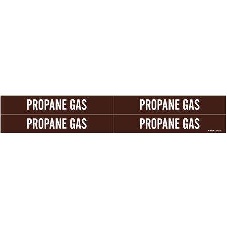 Pipe Marker, Propane Gas, Br, 3/4to2-3/8 In