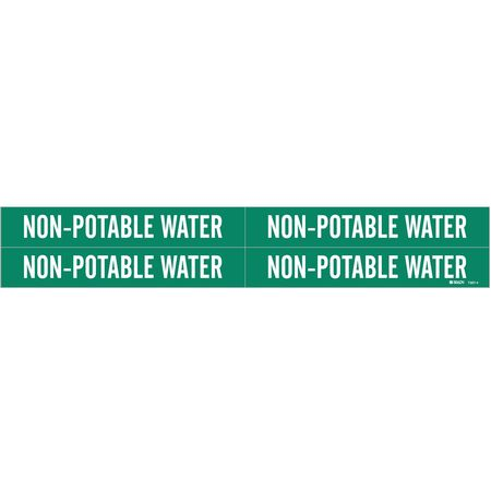 Pipe Mrkr, Non-Potable Water, 3/4to2-3/8In