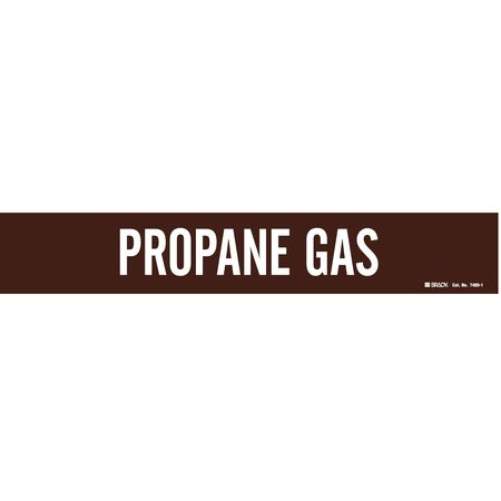 Pipe Marker, Propane Gas, 2-1/2to7-7/8 In