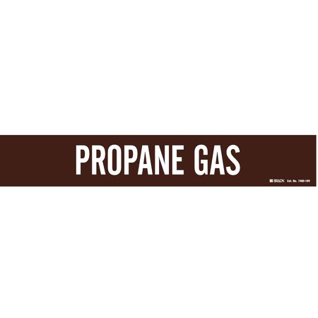 Pipe Marker, Propane Gas, Br, 8 In or Lrger