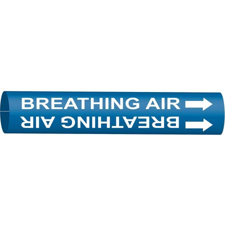 Pipe Marker, Breathing Air, Bl, 6to7-7/8 In