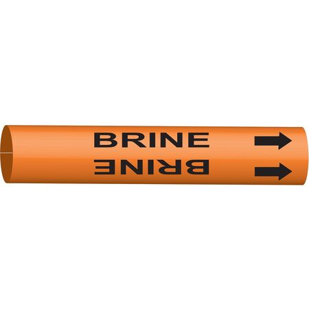 Pipe Marker, Brine, Orange, 6 to 7-7/8 In