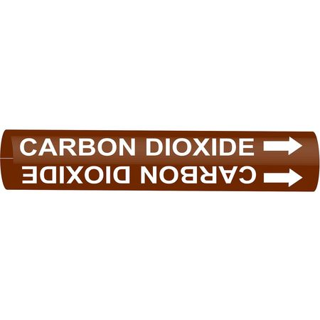 Pipe Marker, Carbon Dioxide, Br, 10 to15 In
